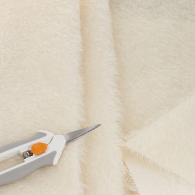 15mm Natural Laid Ivory Mohair