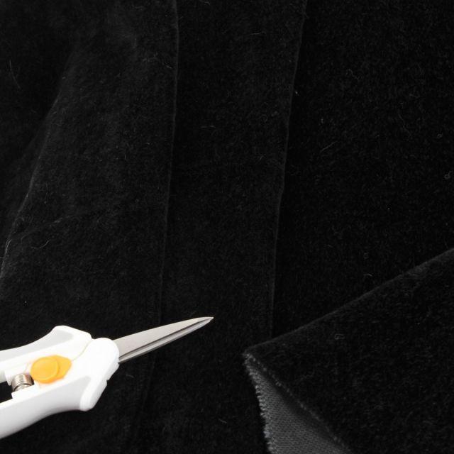 4mm Dense Straight Black Mohair