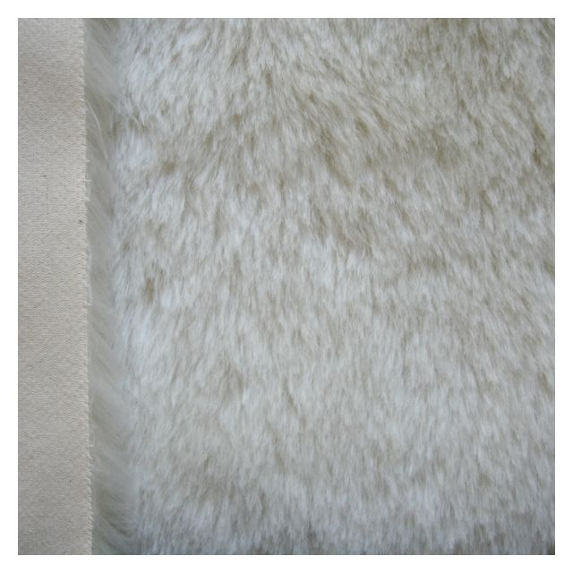 24mm Straight Ivory Mohair