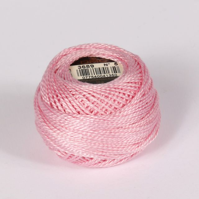 No 5 Baby Pink Cotton Perle Ball