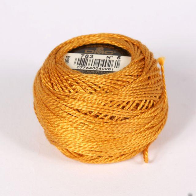 No 5 Gold Cotton Perle Ball