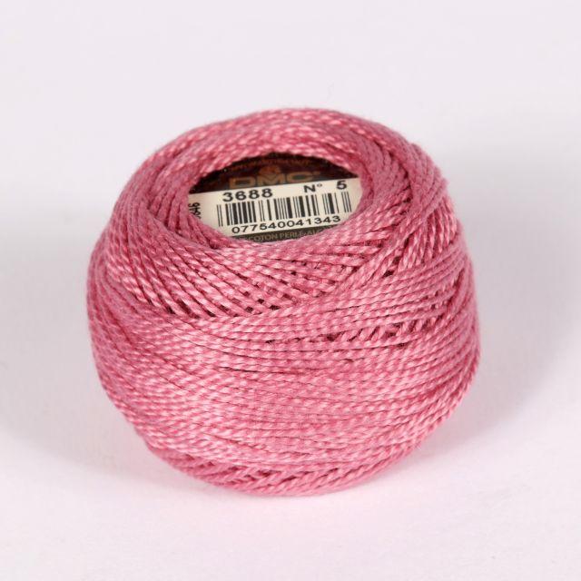 No 5 Antique Rose Cotton Perle Ball