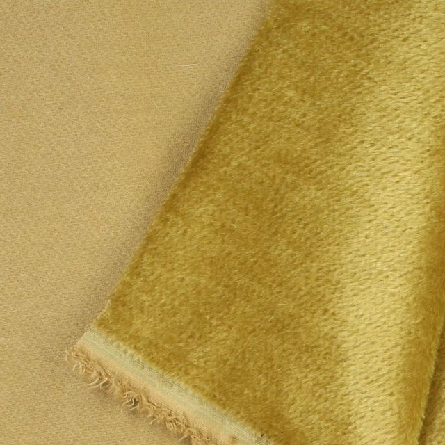 7mm Straight Tarnished Antique Gold Mohair