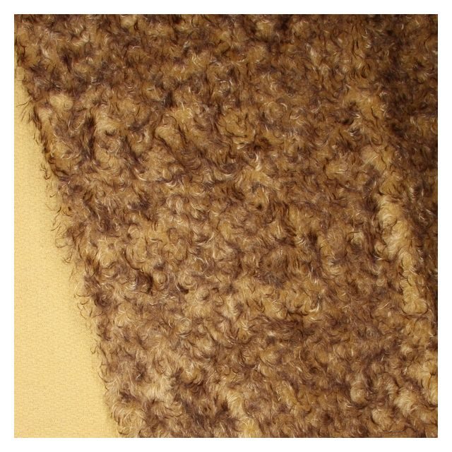 23mm Gold with Brown Tip Ratinee Mohair