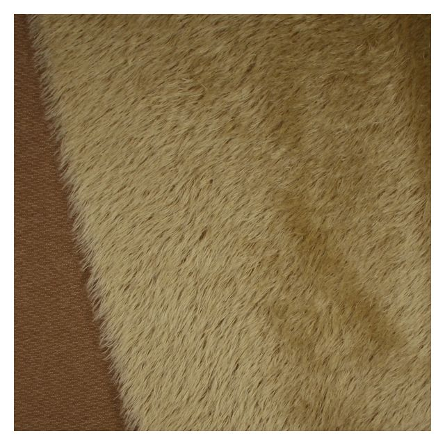 22mm Natural Laid Pale Gold Caramel Backing Mohair