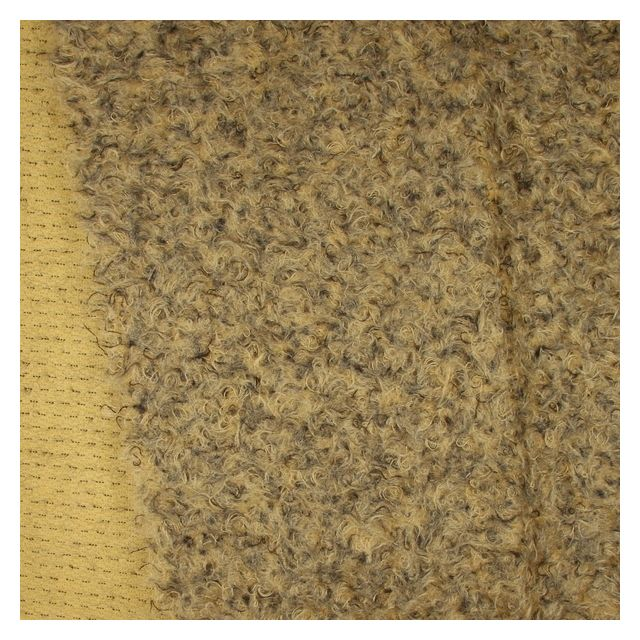 23mm Felted Flecked Antique Gold Mohair