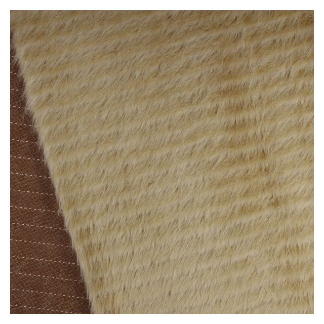 17mm Straight Striped Stoat Mohair Rayon Mix