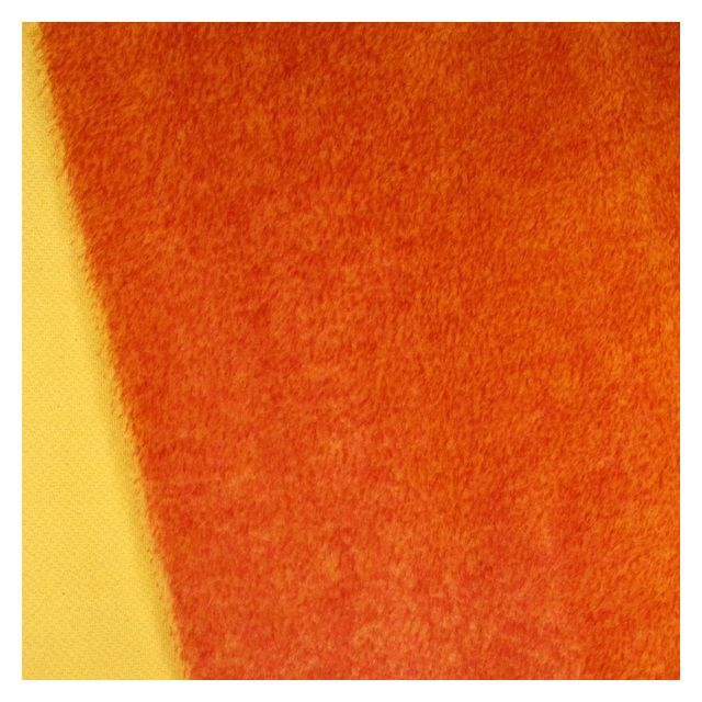 13mm Straight Yellow Red Tip Mohair
