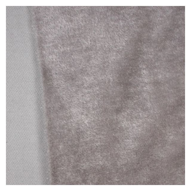 10mm Straight Frosted Silver Grey Mohair