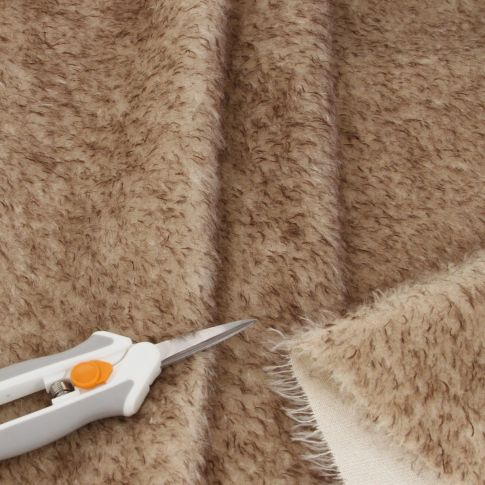 15mm Natural Laid Oyster Brown Tip Mohair