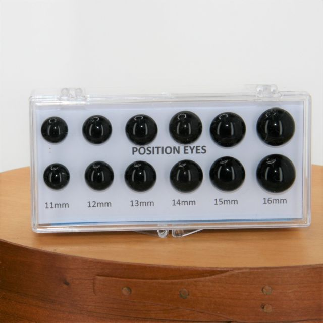 Glass Position Eyes Set 2 11mm - 16mm