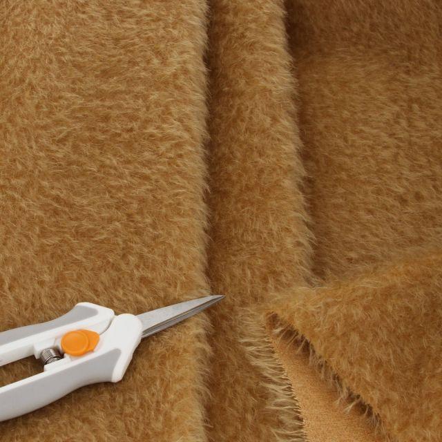 15mm Natural Laid Light Golden Brown Mohair