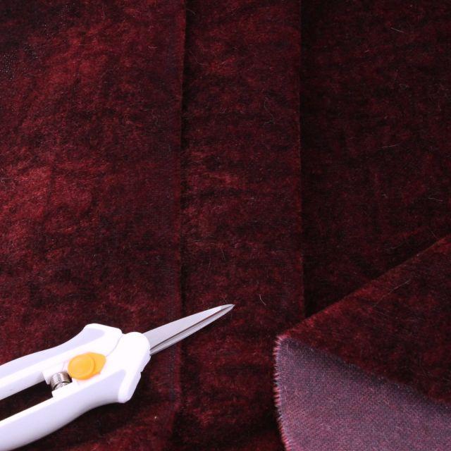 4mm Dense Straight Plum Black Batik Mohair
