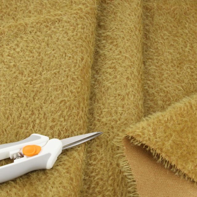 9mm Sparse Burnished Antique Gold Mohair