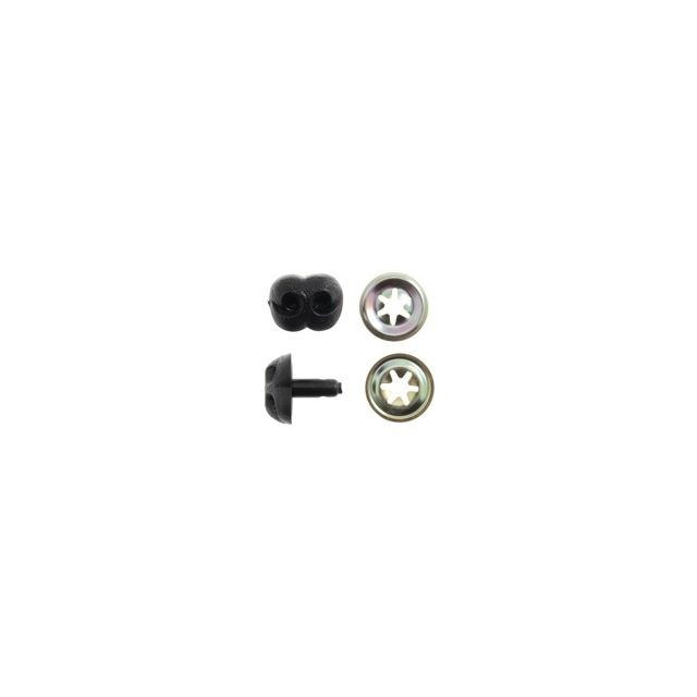 12mm Black Plastic Safety Noses - Pack of 5