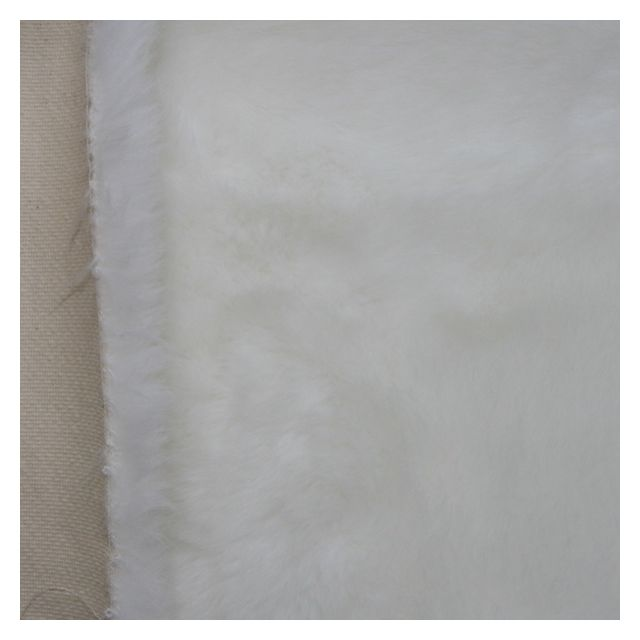 30mm White Synthetic Fur Fabric