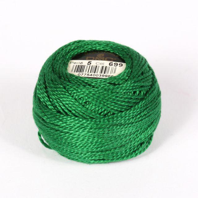 No 5 Rich Green Cotton Perle Ball