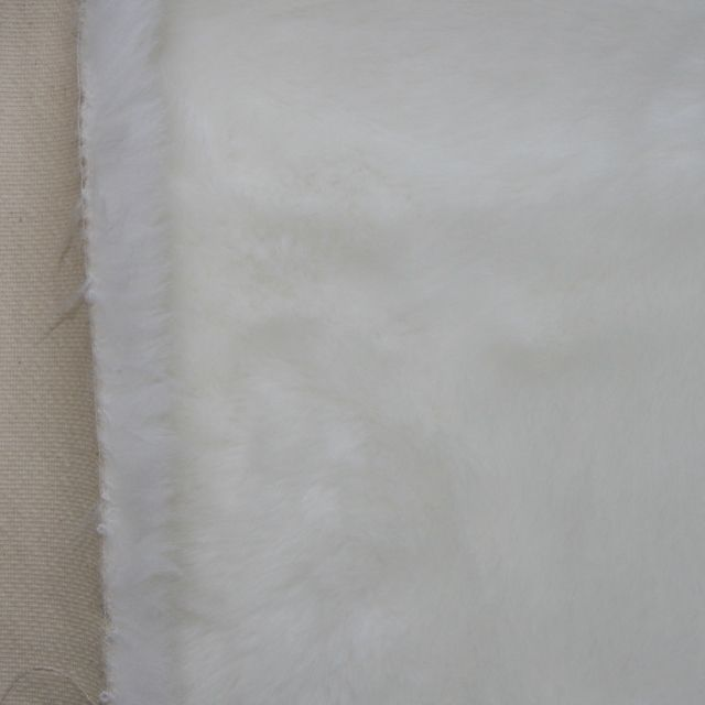 27mm White Synthetic Fur Fabric