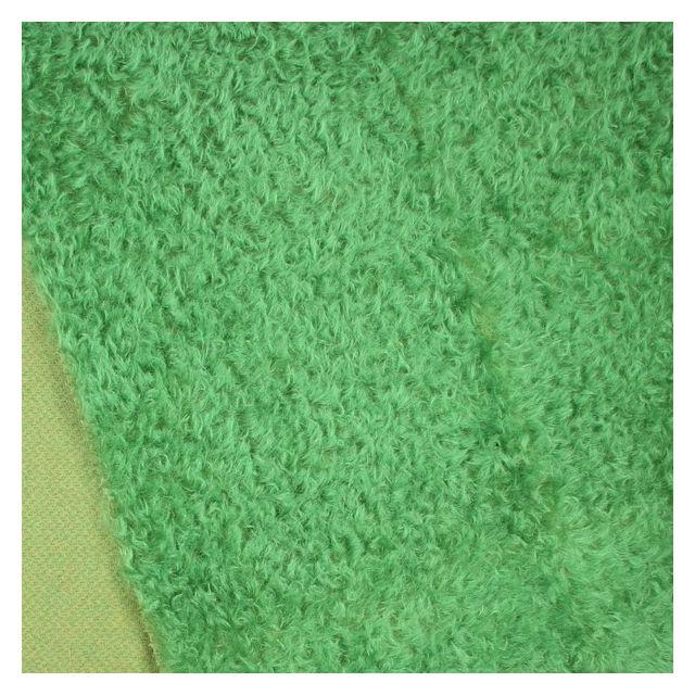 15mm Dense Green Clover Ratinee Mohair