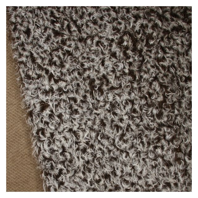 23mm Brown White Tip Ratinee Mohair