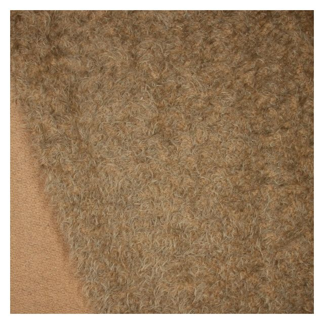 15mm Light Brown with Black Hairs Ratinee Mohair