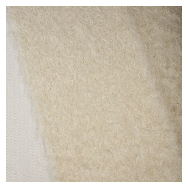 23mm Ivory with Gold Thread Ratinee Mohair