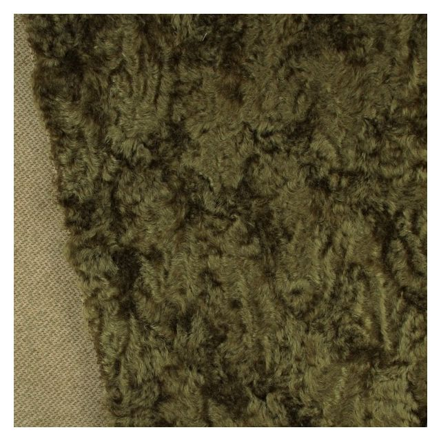 17mm Curled Finish Dark Sepia Mohair