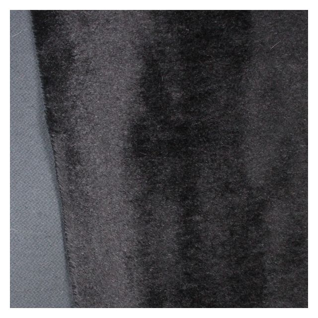 10mm Straight Black Mohair