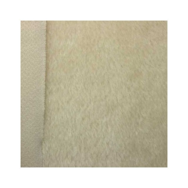 10mm Straight Ivory Mohair