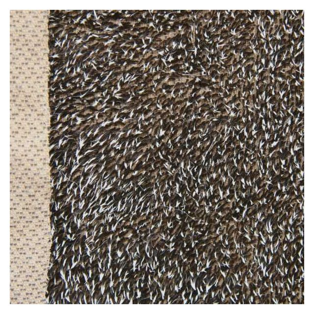 10mm Brown with White Gelled Tips Mohair