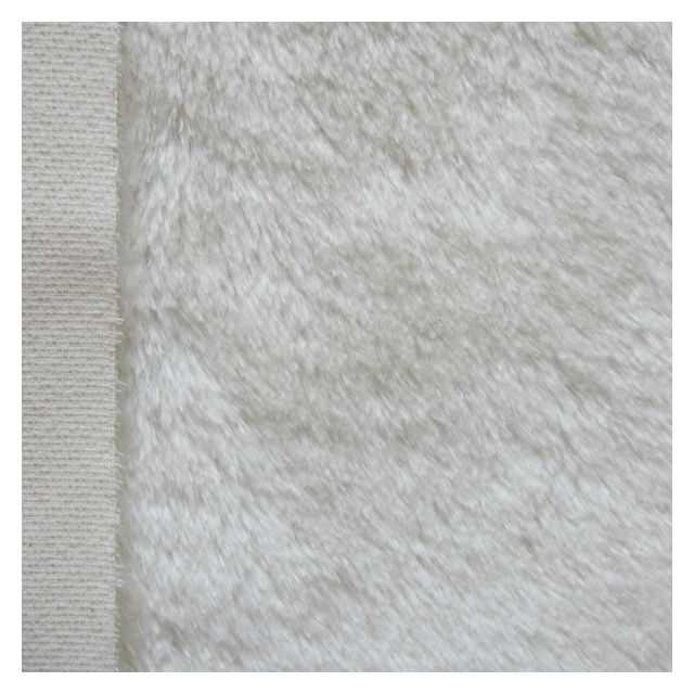 17mm Straight Ivory Mohair